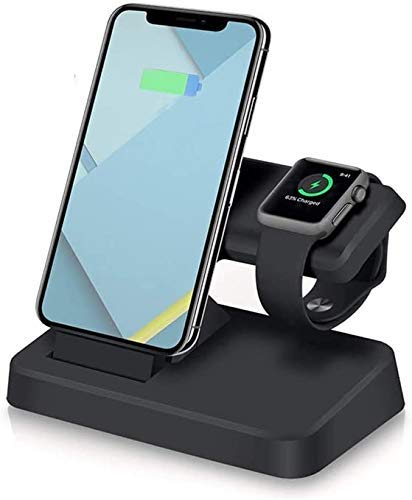 2 in 1 Charging Dock Station for iPhone X XS Max XR 8 7 6 6S Plus Stand Holder USB Charger for Apple Watch Series 4 3 2 1