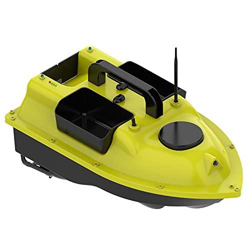 Lixada RC Barco de Cebo de Pesca GPS con 3 contenedores de Cebo Barco de Cebo automático con Alcance Remoto de 400-500M