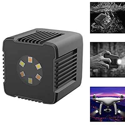 Dazzne Moin L1 Magnetic Cube LED Lights,3200K-5600K,0-1000lux (0.5m) Underwater Photography Lighting with Magnetic Charging Cable APP Control for DSLR, Drones, Action Camera, Smartphone