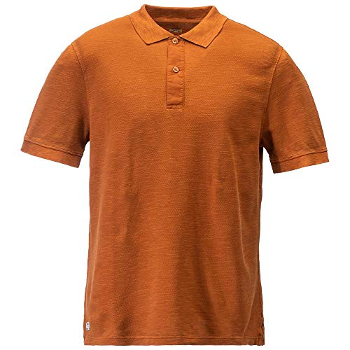 Dolomite Herren Polo Sessanta Slub M, Paprika Orange, XL