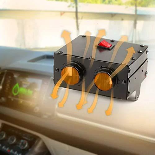 Auto-Heizung 500W 12V / 24V Heizgebläse 2 Entlüftungen LKW Fenster Frontscheibenentfrostung Raumheizung,12v