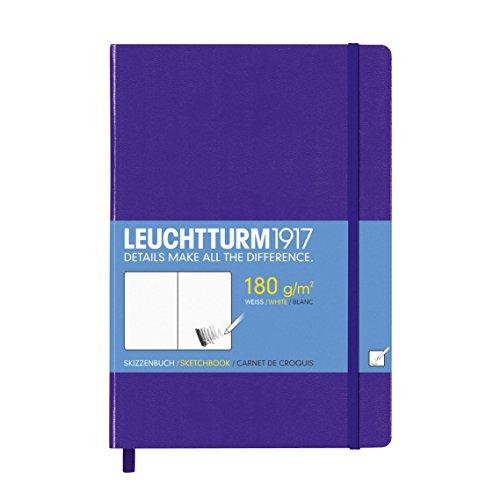 LEUCHTTURM1917 349374 Skizzenbuch Medium (A5), Hardcover, 96 Seiten (180 g/qm), Violett