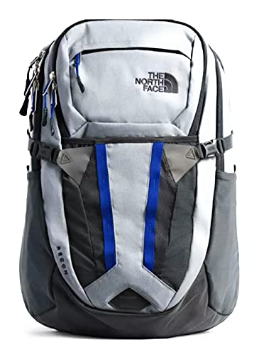 The North Face Unisex Recon Backpack Daypack, TNF Medium Grey Heather/Marker Blue