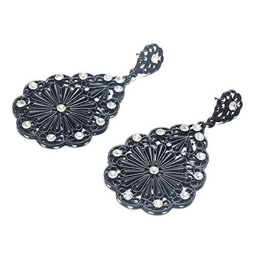 JINGRU Mode Persönlichkeit einfache edle Blume Inlay Ohr Nagellack Ohrringe