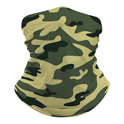 JKMEOO Cache-cou camouflage bleu pour le visage, le cou, le foulard, le bandeau, le bandeau bandana guêtre, cagoule pour la randonnée, le cyclisme., Couleur 5, 0ne size