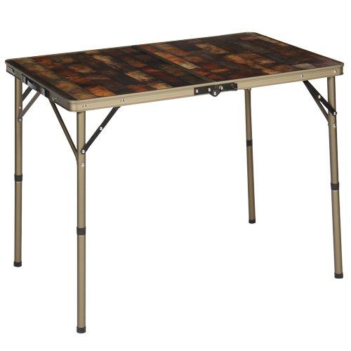 [クイックキャンプ] アウトドア 折りたたみテーブル 90×60cm 収納袋付き ヴィンテージライン QC-2FT90V