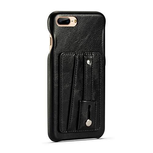 SHENGZHENHAOLIJJYPSH Cubierta protectora con soporte de doble Segundo ranuras for tarjeta for el iPhone 7 Plus / 8 Plus, caja de cuero de teléfono retro con correa de mano, for el iPhone 7 Suma / 8 Su