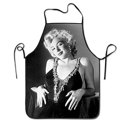 Marilyn Monroe - Delantal unisex para cocinar, cocinar, hornear y hornear