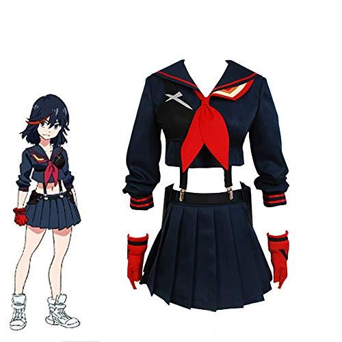 Zhujiao Costume Cosplay di Ryuko Matoi, Costume da Anime Femminile Ryuko Matoi Vestito Cosplay Carnevale di Halloween Uniforme Scolastica Giapponese Costume da Marinaio