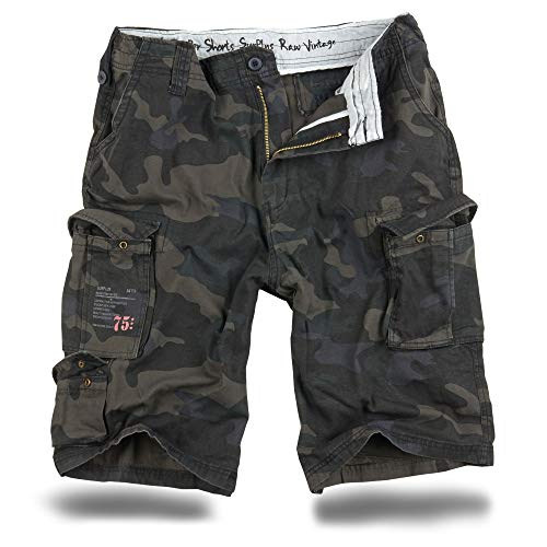 Trooper Cargo Shorts Lightning Edition - blackcamo L