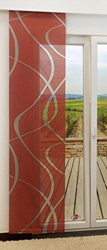 LYSEL Schiebegardine Outlet - Coloma transparent in den Maßen 245 cm x 60 cm