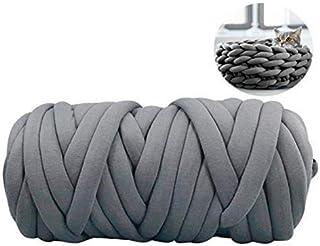 Best IMSHI DIY Giant Wool Hand-Knitted Wool Yarn - Non-Mulesed Chunky Wool Yarn Big Chunky Yarn Massive Yarn Extreme Arm Knitting Giant Chunky Knit Blankets Throws - 510g/25m Review