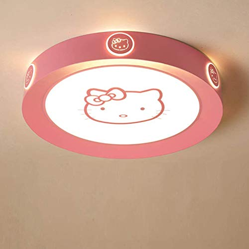 Luminaire Plafonnier LED blanc chaud-blanc froid rose clair Hello Kitty Lampe Plafond chambre enfants éclairage de plafond dimmable filles garçons chambre lampe salon couloir applique murale,Ø52cm~36w