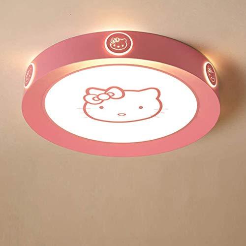 Lámpara des techo LED blanco cálido-blanco frío rosa claro Hello Kitty lámpara de techo habitación para niños iluminación regulable niños de dormitorio sala de estar pasillo lámpara de pared,Ø52cm~36w