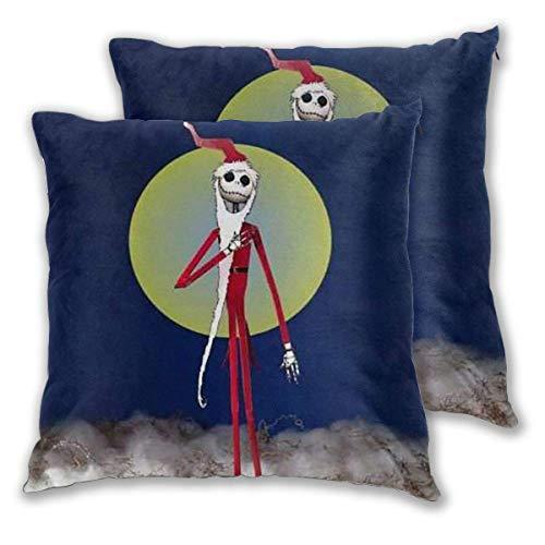 MISS-YAN Funda de cojín decorativa con diseño de esqueleto, para cama, silla, sofá, 2 unidades
