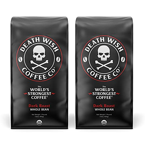 Death Wish Coffee Whole Bean Coffee Bundle Deal, The World's Strongest Coffee, Fair Trade and Organic - 2 lb.
