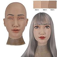 レディースヘッドギア シリコーンシミュレーションヘッドギア ソフトでリアルなフード 女装トランスジェンダーコスプレハロウィーンのために