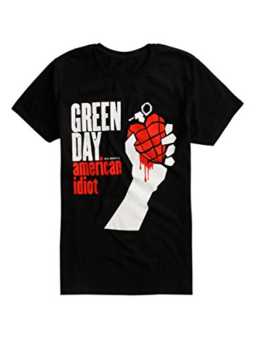 Unknown American Idiot - Camiseta Manga Corta para Hombre, Color Negro, Talla M