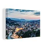 Leinwandbild - Stadtbild von Sarajevo in Bosnien und
