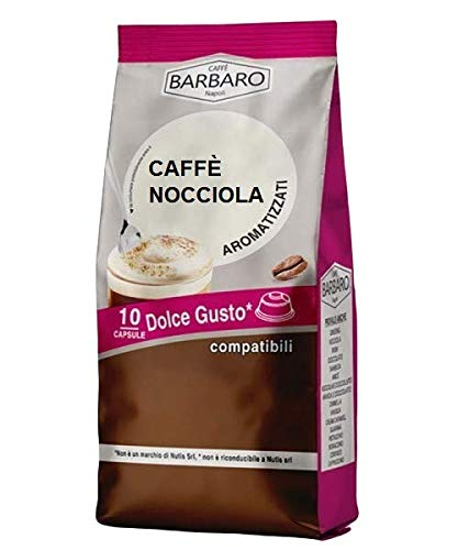 KOFFIE HAZELNOOT BARBARO - 10 DOLCE GUSTO COMPATIBELE CAPSULES 7g
