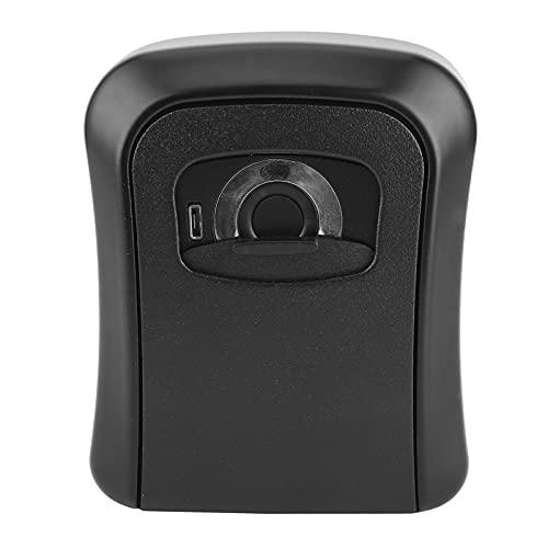 Caja de llaves Bluetooth para huellas dactilares Carga USB Sin llave Caja de llaves montada en la pared Caja de almacenamiento electrónico para llaves Organizador para empresas domésticas