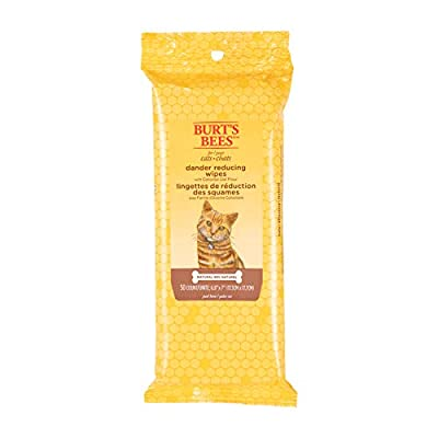 Burt's Bees Kitten and Cat Wipes For Grooming, Natural Dander Reducing Wipes, 50 Count