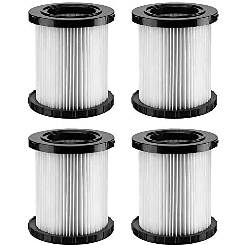 Fette Filter- Wet Dry Vacuum Replacement Filters Compatible with DeWalt DCV580 & DCV581H wet-dry vacuums Part # DCV5801H (Pack of 4)
