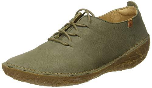 El Naturalista Borago, Zapatos de Cordones Brogue Mujer, Verde (Kaki Kaki), 38 EU