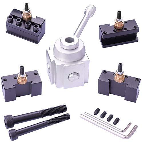 JWGJW 120034 Tooling Package Mini Lathe Quick Change Tool Post & Holders Multifid Tool Holder