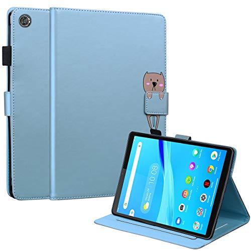 DodoBuy Funda para Lenovo Tab M8 de 8 pulgadas HD, Animal Modelo Flip Magnético Wallet Case Proteccion Cover Carcasa Piel PU Billetera Soporte con Ranuras Tarjetas - Azul