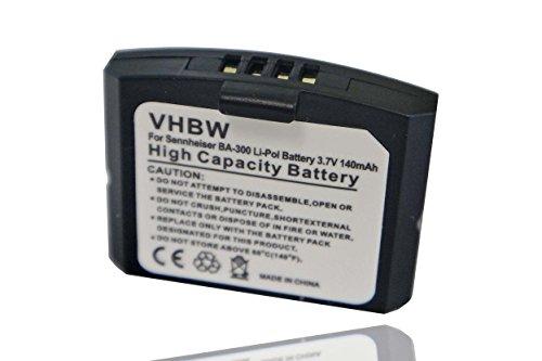 vhbw batería Compatible con Sennheiser RR 840 S, Set 840 TV, Set 900 Auriculares inalámbricos Cascos (140mAh, 3,7V, polímero de Litio)
