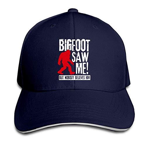GodYo El Bigfoot Informal de los Hombres y Las Mujeres me VIO, Pero Nadie le cree Sombrero con Visera Sombrero de algodón para Hombres y Mujeres