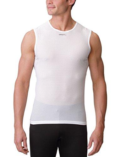 Craft Cool Mesh Camiseta Interior, Hombre, White, S