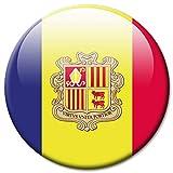 Kühlschrankmagnet Flagge Andorra Magnet Länder Flaggen Reise Souvenir für Kühlschrank stark groß 50 mm