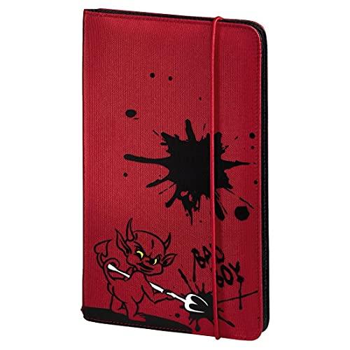 Hama CD Tasche Up to Fashion (für 48 Discs, CD / DVD / Blu-ray / Hörbücher, Mappe zur Aufbewahrung, platzsparend für Auto & Zuhause, Mit Teufel Motiv) Rot