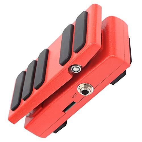 01 Pedal de expresión Wah, Pedal de Efectos 5.3 X 2.4 X 1.8Inch Pedal Wah-Wah 2 en 1 Pedal Wah Portátil con Almohadilla Antideslizante para interpretaciones de Guitarra(Red)
