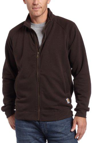 Carhartt K350.DKB.S004 trui met opstaande kraag en ritssluiting aan de voorzijde donkerbruin Maat: S