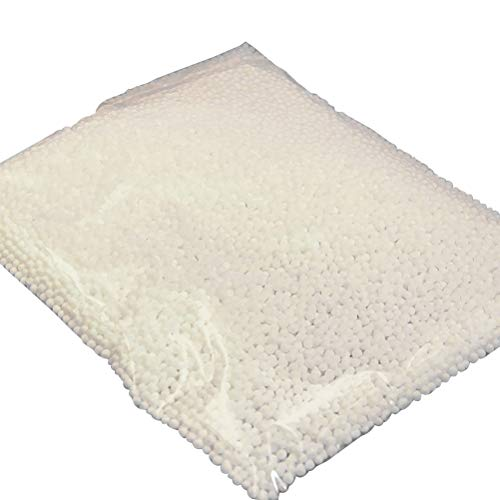 OUNONA Bolas de Espuma de Espuma de poliestireno esféricas Mini 0.25-0.35cm Bricolaje para Manualidades de la Escuela del hogar 3 Paquetes (Blanco)