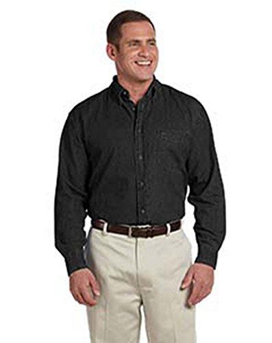Harriton Mens Long-Sleeve Denim Shirt (M550) -WASHED BLA -XL