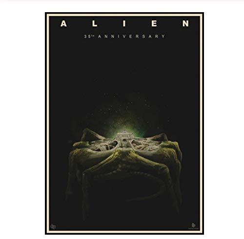 MXIBUN Alien Poster Kraft Paper Vintage Aliens Movie Poster House Room Decoration Art Brand Gift 30 * 42Cm Sin Marco