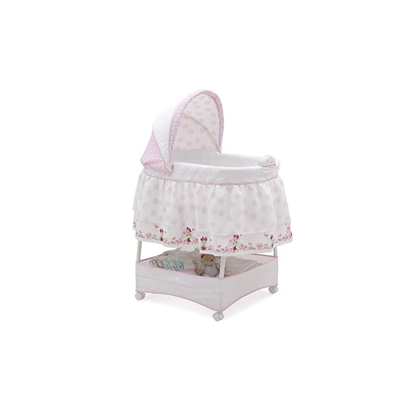 crib bedding and baby bedding delta children disney minnie mouse gliding bassinet