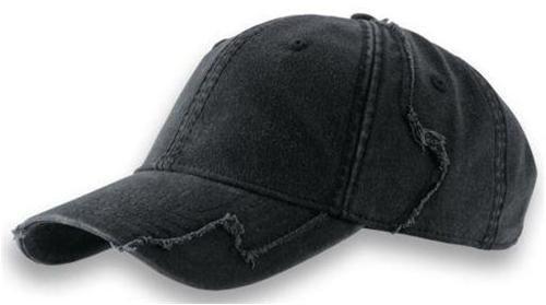 noTrash2003 - Gorra de béisbol de algodón chino lavado en estilo vintage (estroyed/distressed) con estructura de patchwork deshilachada en negro (talla única)