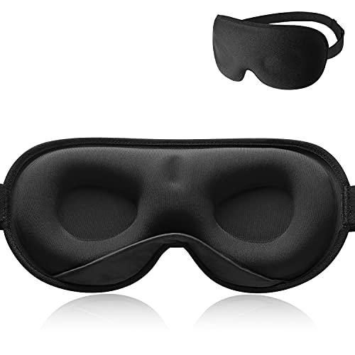 Schlafmaske Herren und Frauen,Unimi Gewogene 3D Augenmaske Schlafmaske, 100{e0827bb57f0cde3f808857a263cbd6ea09c73d2bd2b0eef520b1277b1d3522ca} Lichtblockierende Schlafbrille mit Memory Schaumstoff Gegen Augenringe und Trockenes Auge, Kopfschmerzen und Migräne