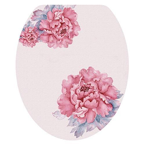 Delidraw Neu Muster Toilette Deckel Aufkleber Meer Weltweit/Blumen Wasserfest Toilettensitz Deckel Aufkleber Badezimmer Dekor - 3207