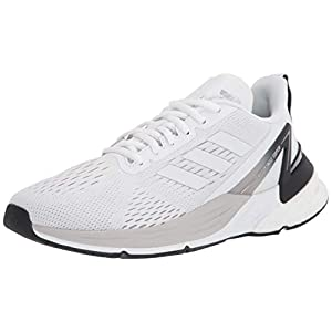 adidas mens Response Super Running Shoe, White/White/Black, 8 US