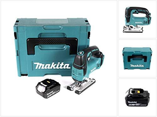 Makita DJV 182 G1J - Sierra de calar inalámbrica (18 V, sin escobillas, 26 mm, incluye 1 batería BL1860B de 6 Ah)