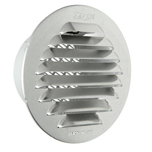 La Ventilazione GTAP80R Griglia Tonda da Incasso, Alluminio, 80 mm