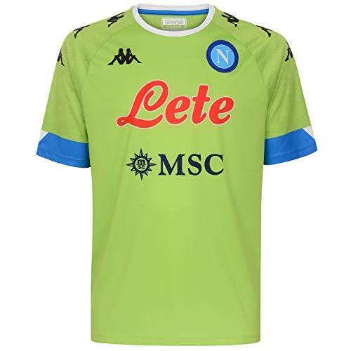 SSC Napoli Camiseta Réplica Portero Domicilio 2020/21 Away, Unisex Adulto, Green Lime-Azure, XL