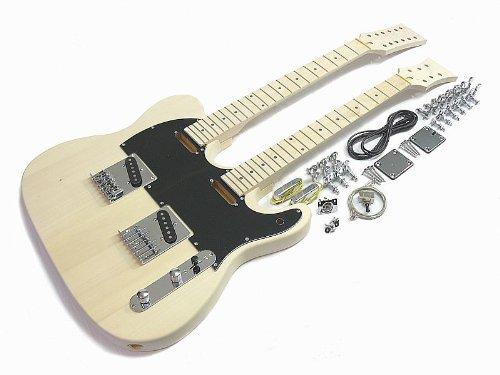 E-Gitarren-Bausatz/Guitar DIY Kit II ML-Factory Doppelhals 12 u. 6 saitig