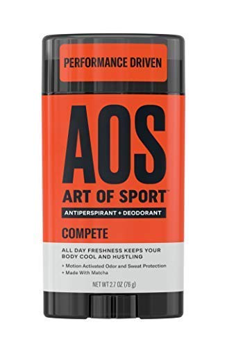 Art of Sport Men's Antiperspirant Deodorant Stick, Compete Scent, Athlete-Ready Formula with Matcha, 2.7 oz